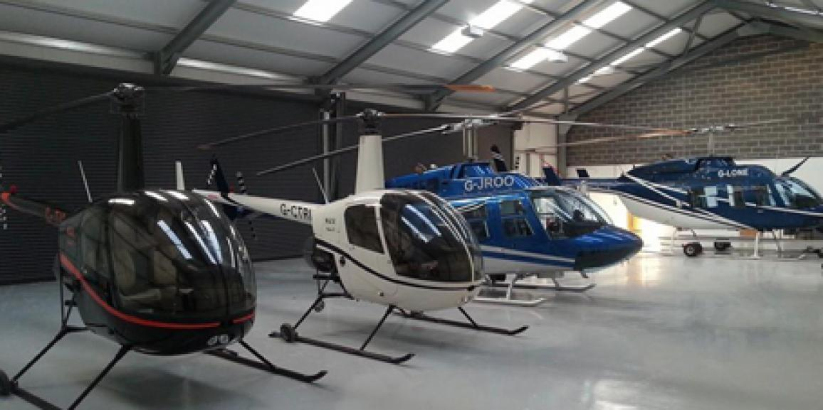 Helicopter storage hangar uk